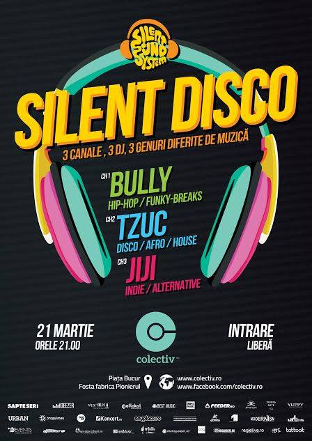 SPRING SILENT DISCO PARTY // INTRARE LIBERĂ // BULLY / TZUC / JIJI