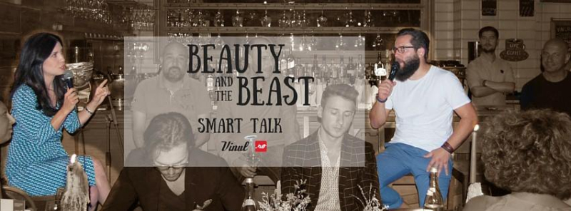 Smart Talk and Wine. Beauty and the Beast