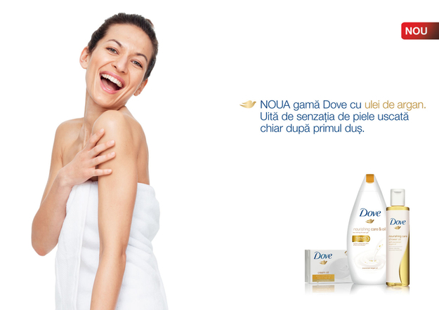 Descopera noua gama Dove Nourishing Care & Oil