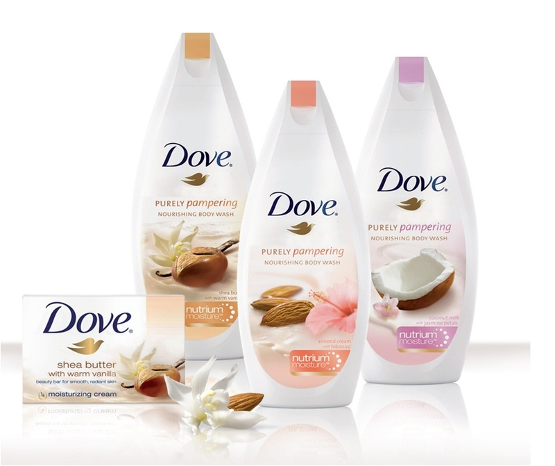 Noua gama Dove Pure Pampering