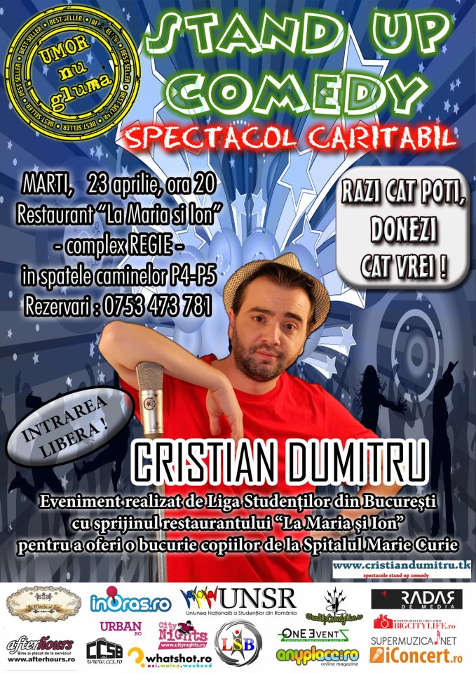 Stand-up in scop caritabil!
